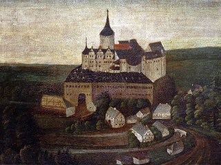 Oldest view of the castle – 15th century; painted around 1700
